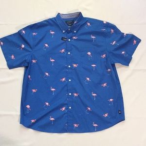 New Crown & Ivy Classic Fit Flamingo Shirt 💎 XXL